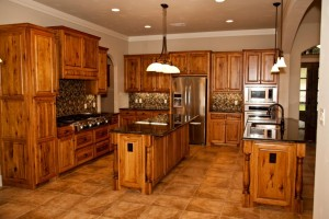 Custom kitchen built by Clear Rock Homes