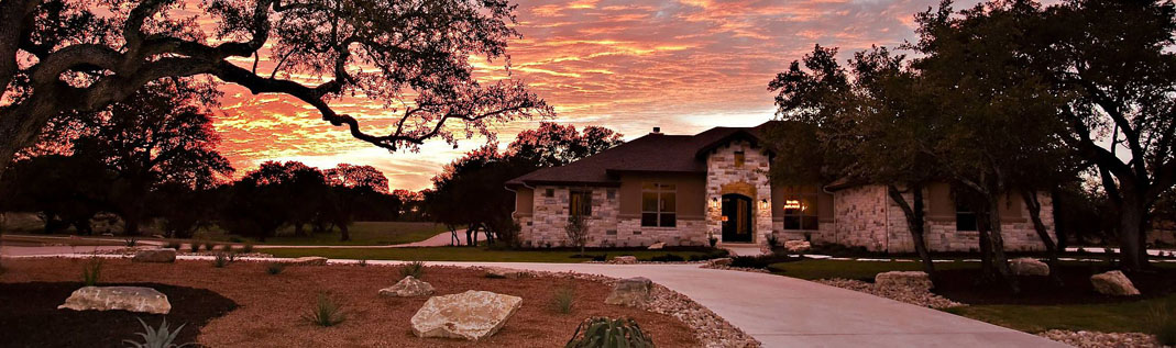 custom built home in Georgetown, Texas.
