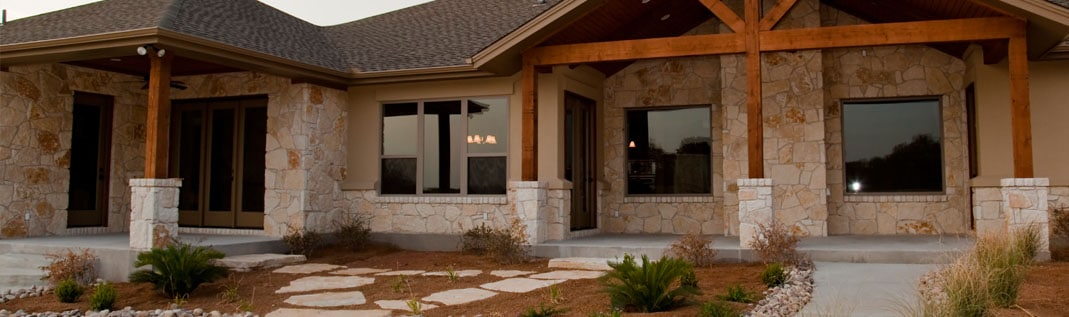 custom home build on a lot in Austin.